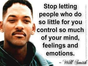 Will Smith's insight on emotional control