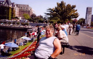 Relaxing on my day off hanging around Victoria's Inner Harbour