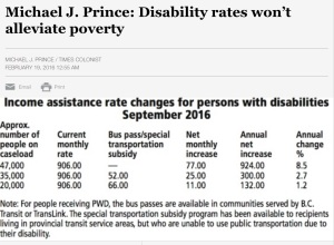 Current and proposed changes to BC disability benefits