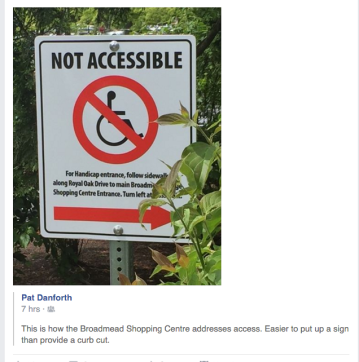 Not Accessible signage