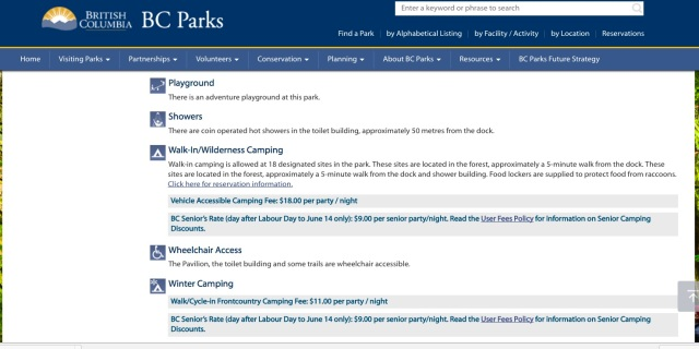 BC Park Website