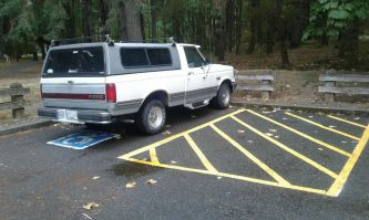 Revised parking spot