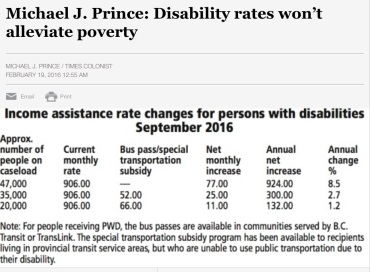 Picture of September 2016 income assistance disability rates
