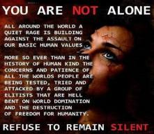 You are not alone, refuse to remain silent